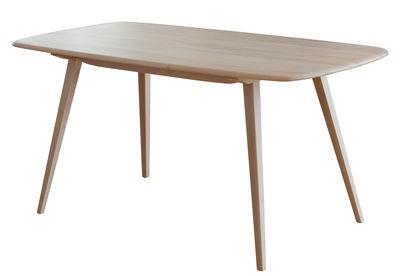 Mobilier - Tables - Table rectangulaire Plank / 152 x 76 cm - Réédition 1950' - Ercol - Bois - Hêtre massif tourné, Orme massif