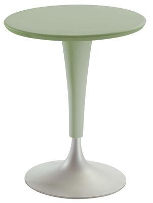 Table de jardin Dr. Na / Ø 60 cm - Kartell vert en matière plastique