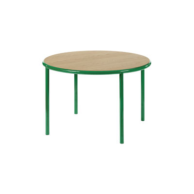 Table ronde Wooden / Ø 120 cm - Chêne & acier - valerie objects vert/bois naturel en bois