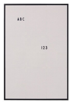 Decoration - Memo Boards & Calendars  - A2 Memo board - / L 42 x H 59 cm by Design Letters - Grey - ABS, Aluminium