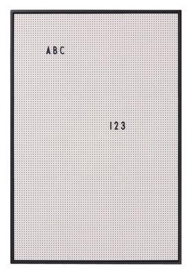 Tableau memo A2 / L 42 x H 59 cm - Design Letters gris en matière plastique