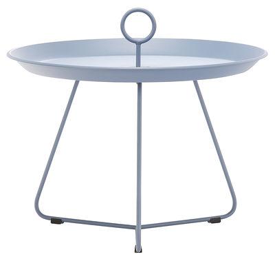 Image of Tavolino basso Eyelet Medium / Ø 60 x H 43,5 cm - Houe - Blu - Metallo