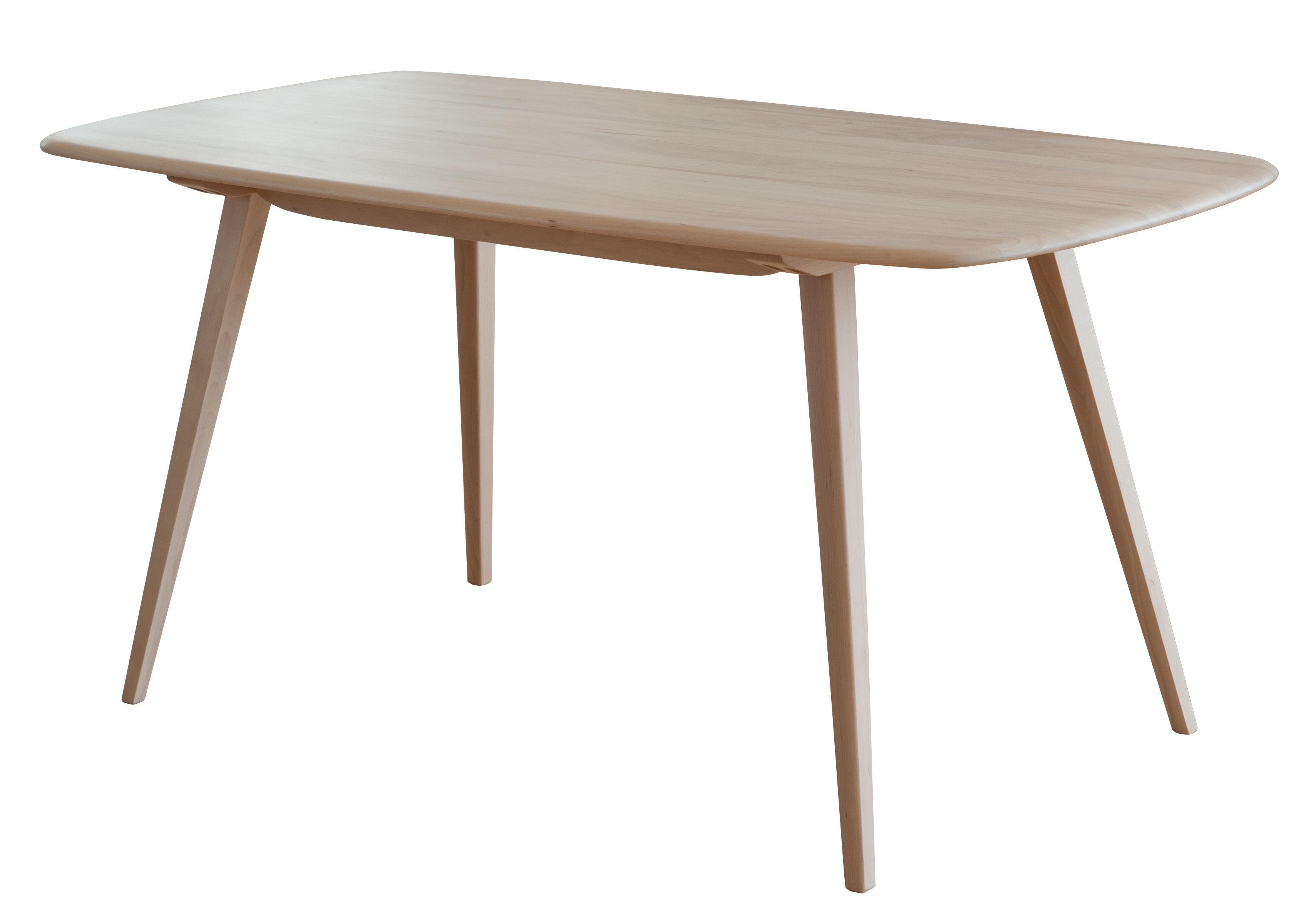 Tendenze - Sala da pranzo - Tavolo rettangolare Plank - / 152 x 76 cm - Riedizione 1950 di Ercol - Legno naturale - Hêtre massif tourné, Orme massif