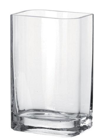 Déco - Vases - Vase Lucca / 15 x 10 x H 25 cm - Leonardo - Transparent /15x10 x H 25 cm - Verre