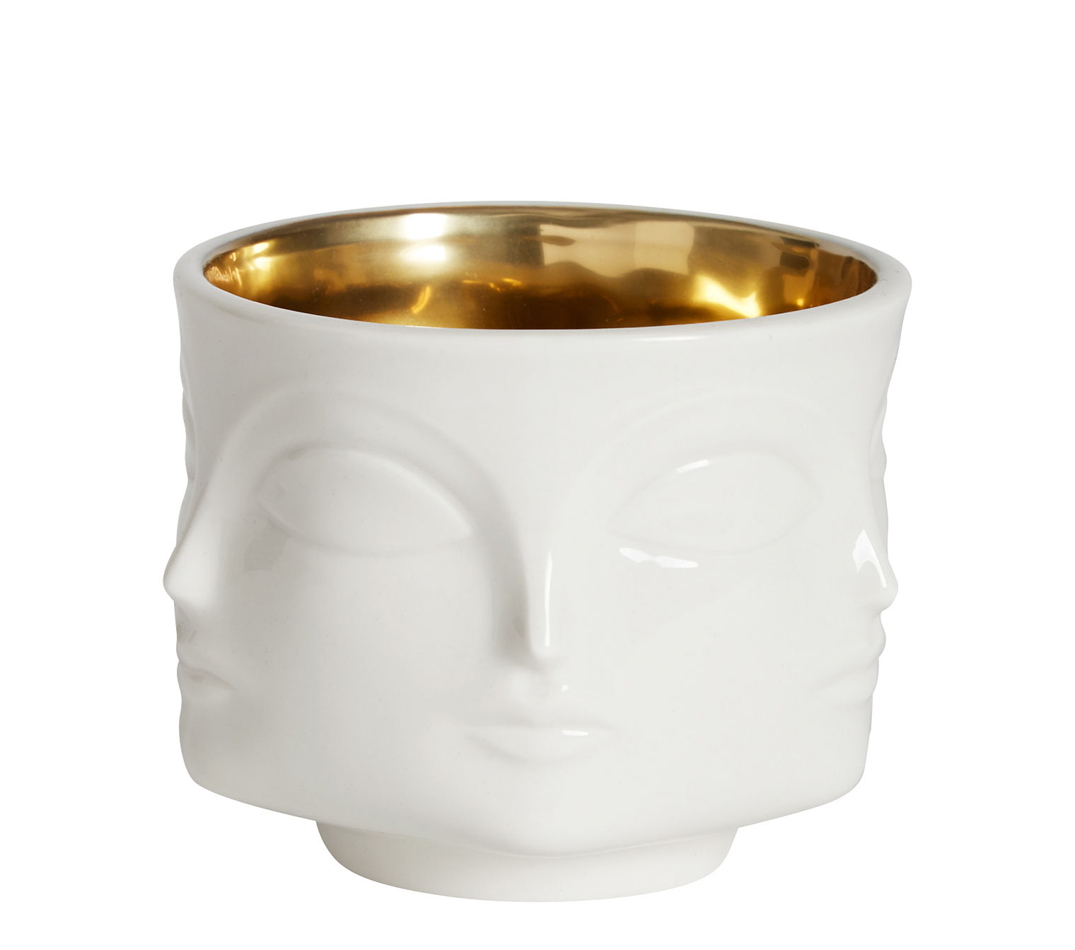 Decoration - Vases - Muse Vase by Jonathan Adler - White & gold - China, Gold
