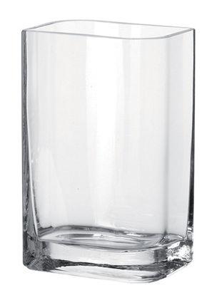 Interni - Vasi - Vaso Lucca - / 15 x 10 x H 25 cm di Leonardo - Trasparente /15x10 x H 25 cm - Vetro
