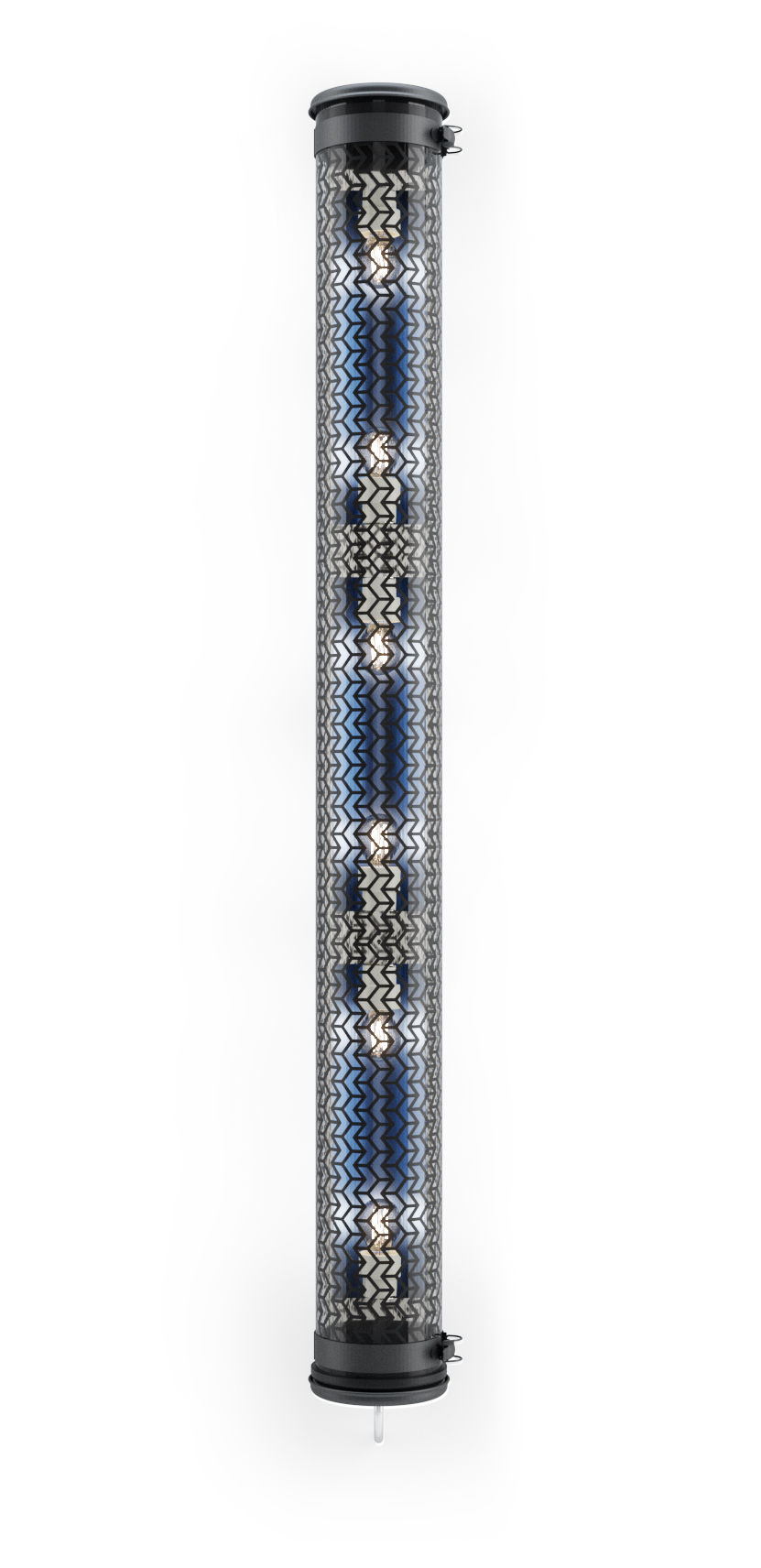Lighting - Wall Lights - Monceau Wall light - / Pendant - L 134 cm by SAMMODE STUDIO - Black / Petrol Blue - Anodized aluminium, Polycarbonate, Stainless steel