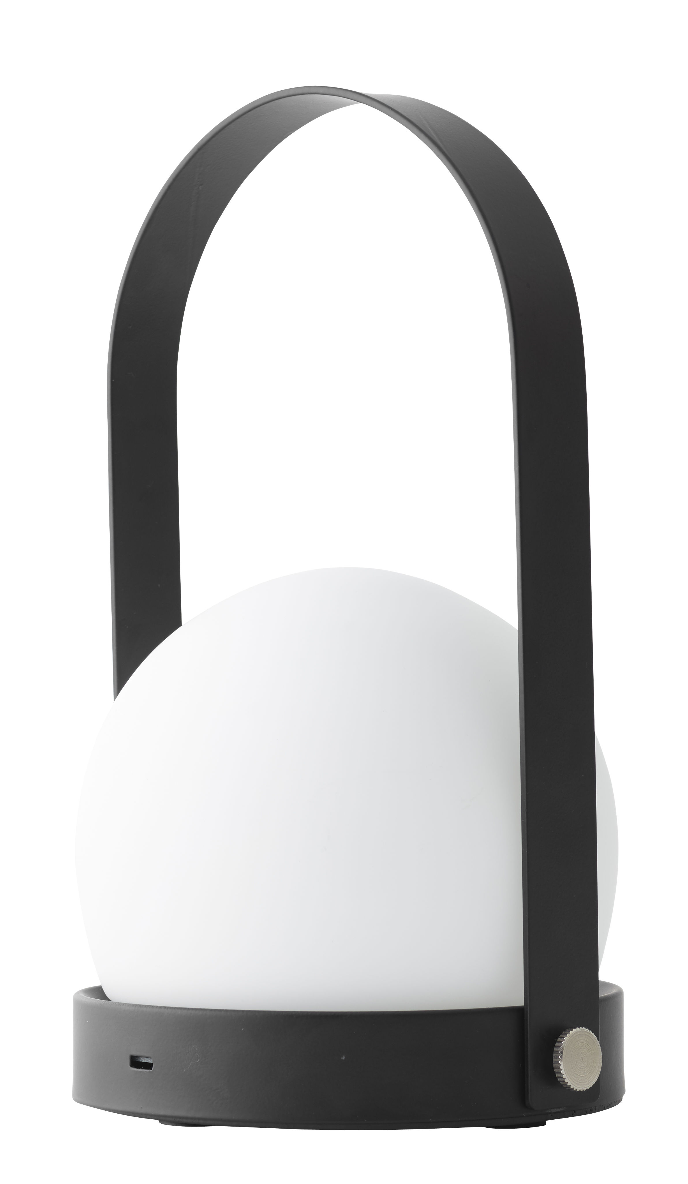 Lighting - Table Lamps - Carrie LED Wireless lamp - H 24,5 cm - LED - USB charging by Menu - Black & white - Opal Glass, Powder steel