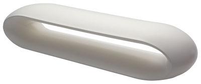 Banc Loop / L 185 cm - Plastique - Serralunga blanc en matière plastique