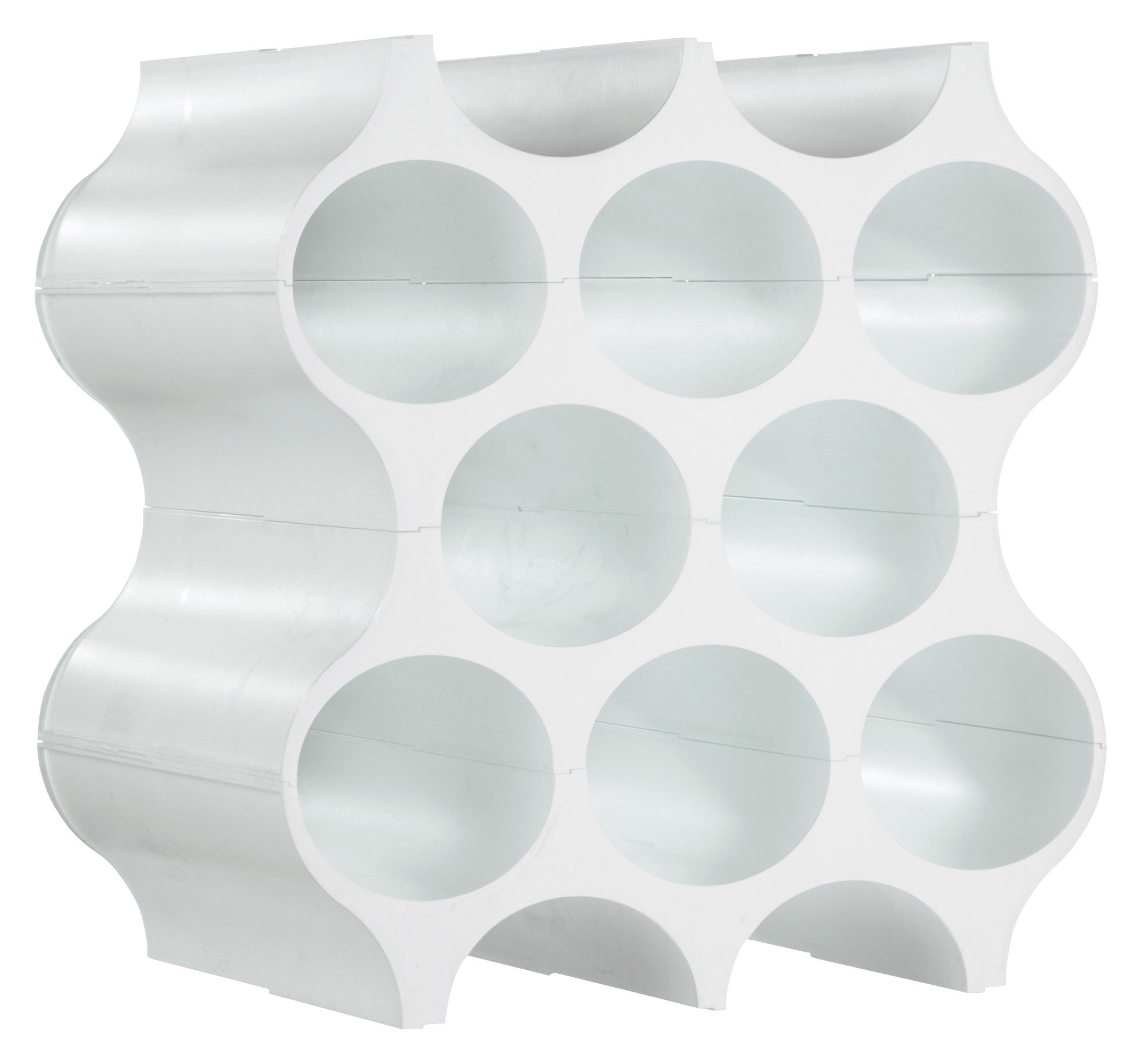 Tableware - Wine Accessories - Setup Bottle rack by Koziol - White - Plastic