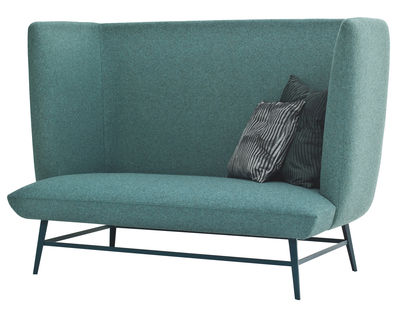 Canapé droit Gimme Shelter / 2 places - L 160 cm x H 113 cm - Diesel with Moroso vert malachite en tissu