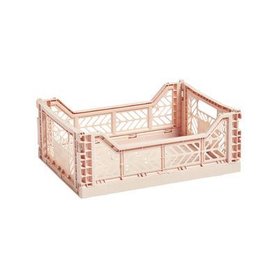 Interni - Per bambini - Cestino Colour Crate - Medium / 40 x 30 cm di Hay - Pesca - Polipropilene