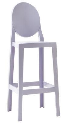 Chaise de bar One more / H 75cm - Plastique - Kartell bleu lavande en matière plastique