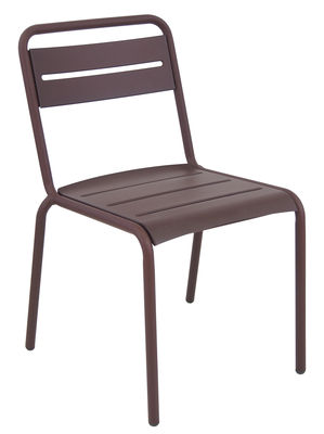 Chaise empilable Star / Métal - Emu marron corten en métal