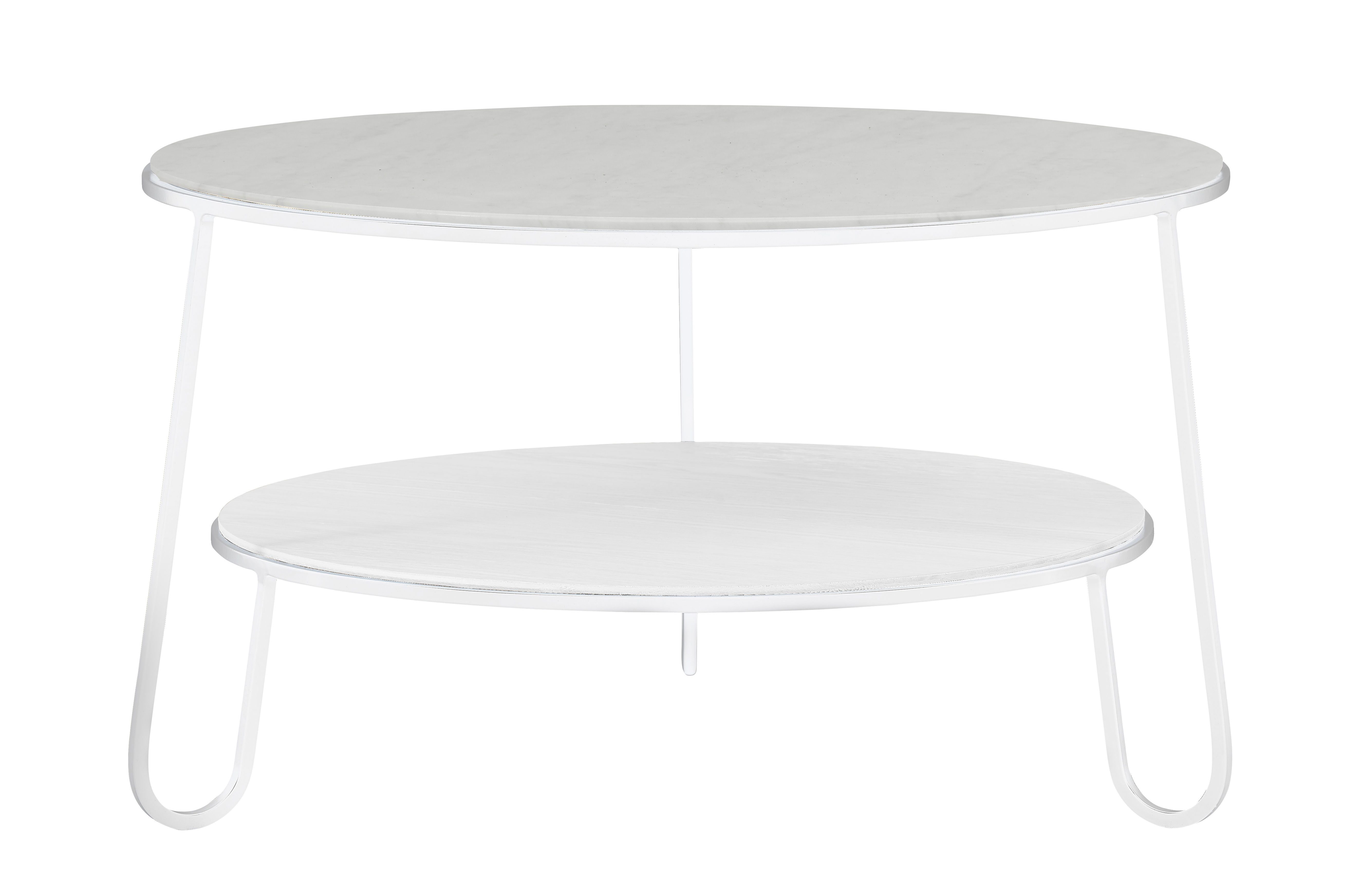 Furniture - Coffee Tables - Eugénie Small Coffee table - / Ø 70 - Marble by Hartô - White / Marble - Marble, Steel, Wood