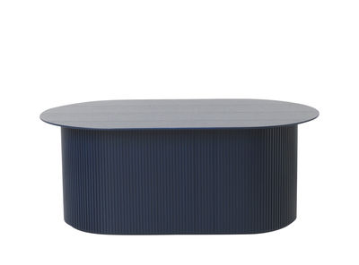 Furniture - Coffee Tables - Podia Coffee table - / Box - 95 x 55 cm by Ferm Living - Dark blue - Painted MDF, Tinted ash veneer