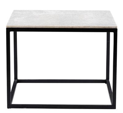Couchtisch / Tischplatte aus Marmor - 60 x 60 cm - House Doctor - Schwarz,Marmor Weiß