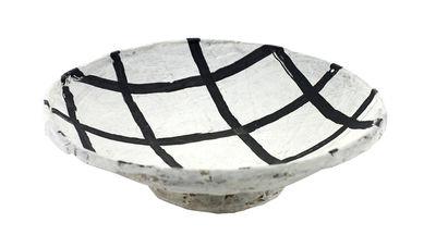 Déco - Corbeilles, centres de table, vide-poches - Coupe Milieux de vos tables / Ø 15 x H 4 cm - Papier peint main - Serax - Blanc & noir - Papier mâché peint à la main