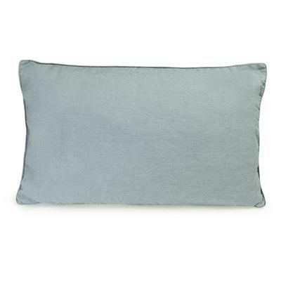 Coussin / 35 x 55 cm - Lin lavé - Au Printemps Paris bleu-gris en tissu