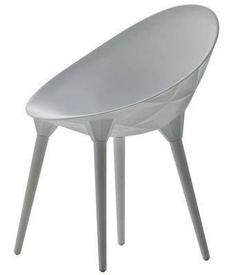 Chaise Rock / Coque plastique & pieds bois - Diesel with Moroso blanc en matière plastique/bois