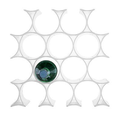 Dekoration - Körbe und Ablagen - Infinity Flaschenregal - Kartell - Weiß - Polypropylen