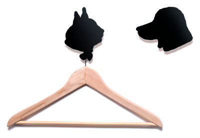 Furniture - Coat Racks & Pegs - Le chien et le chat Hook - Set of 2 by Domestic - Black - Lacquered aluminium