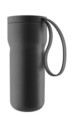 Tableware - Coffee Mugs & Tea Cups - Nordic Kitchen Insulated mug - / with tea infuser by Eva Solo - Matt black - Plastic, Silicone, Stainless steel