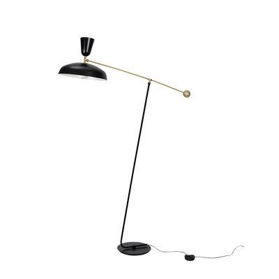 Illuminazione - Lampade da terra - Lampada a stelo G1 Large - / Riedizione 1951, Pierre Guariche - H 175 cm di SAMMODE STUDIO - Nero opaco - Alluminio, Ottone
