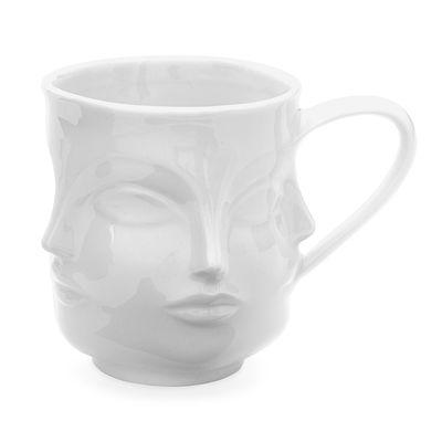 Tableware - Coffee Mugs & Tea Cups - Dora Maar Mug - / Faces in relief by Jonathan Adler - White - China