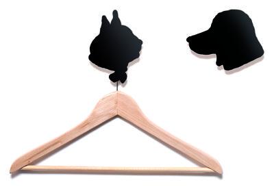 Mobilier - Portemanteaux, patères & portants - Patère Le chien et le chat / Lot de 2 - Domestic - Chien & chat / Noir - Aluminium laqué