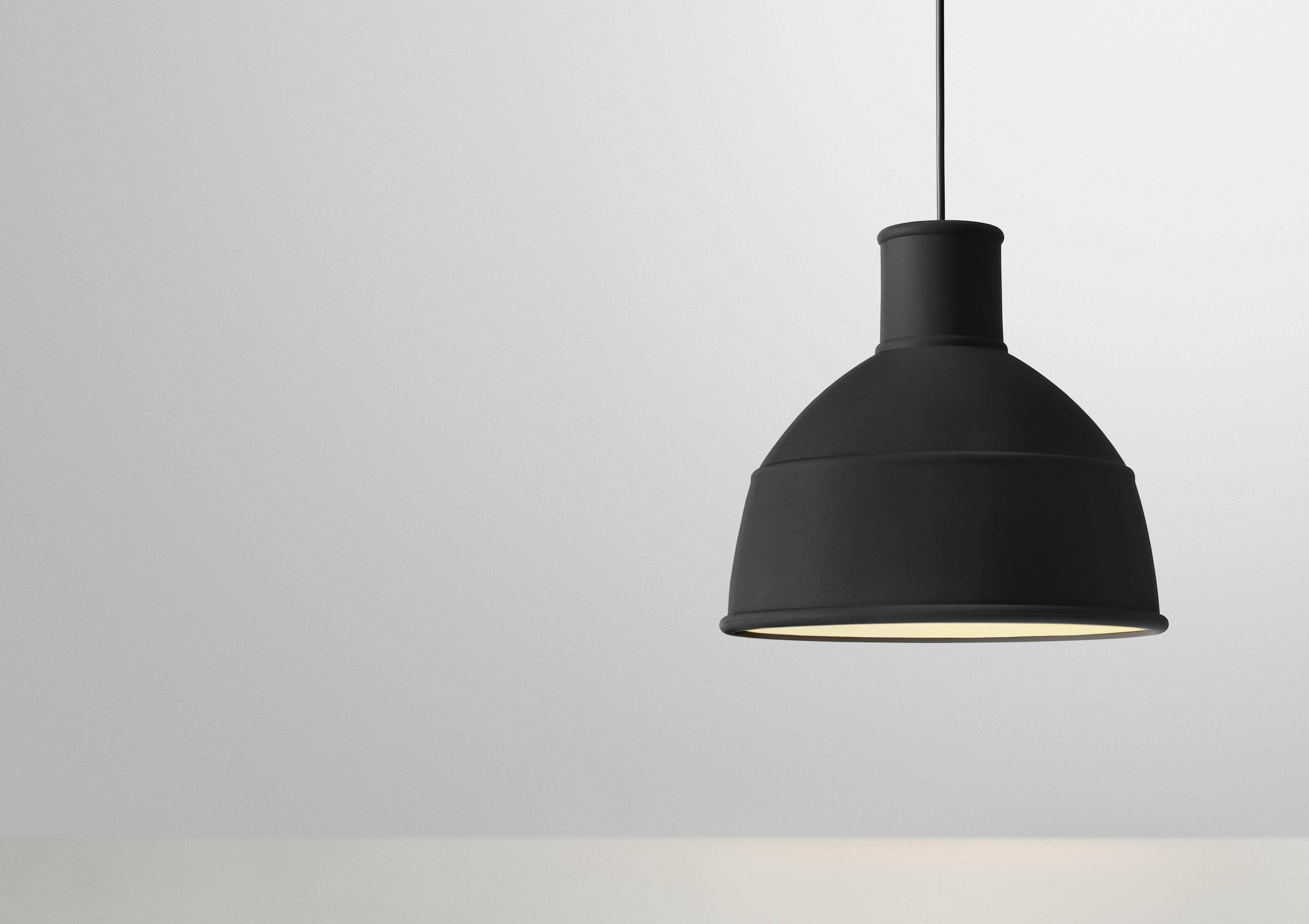 Lighting Pendant Unfold Silicone By Muuto Black