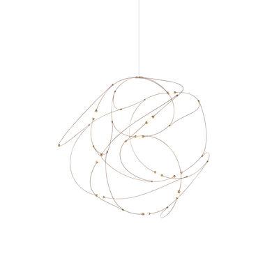 Leuchten - Pendelleuchten - Flock of Light 11 Pendelleuchte / LED - Moooi - Kupfer - Bronze, Messing, Polykarbonat