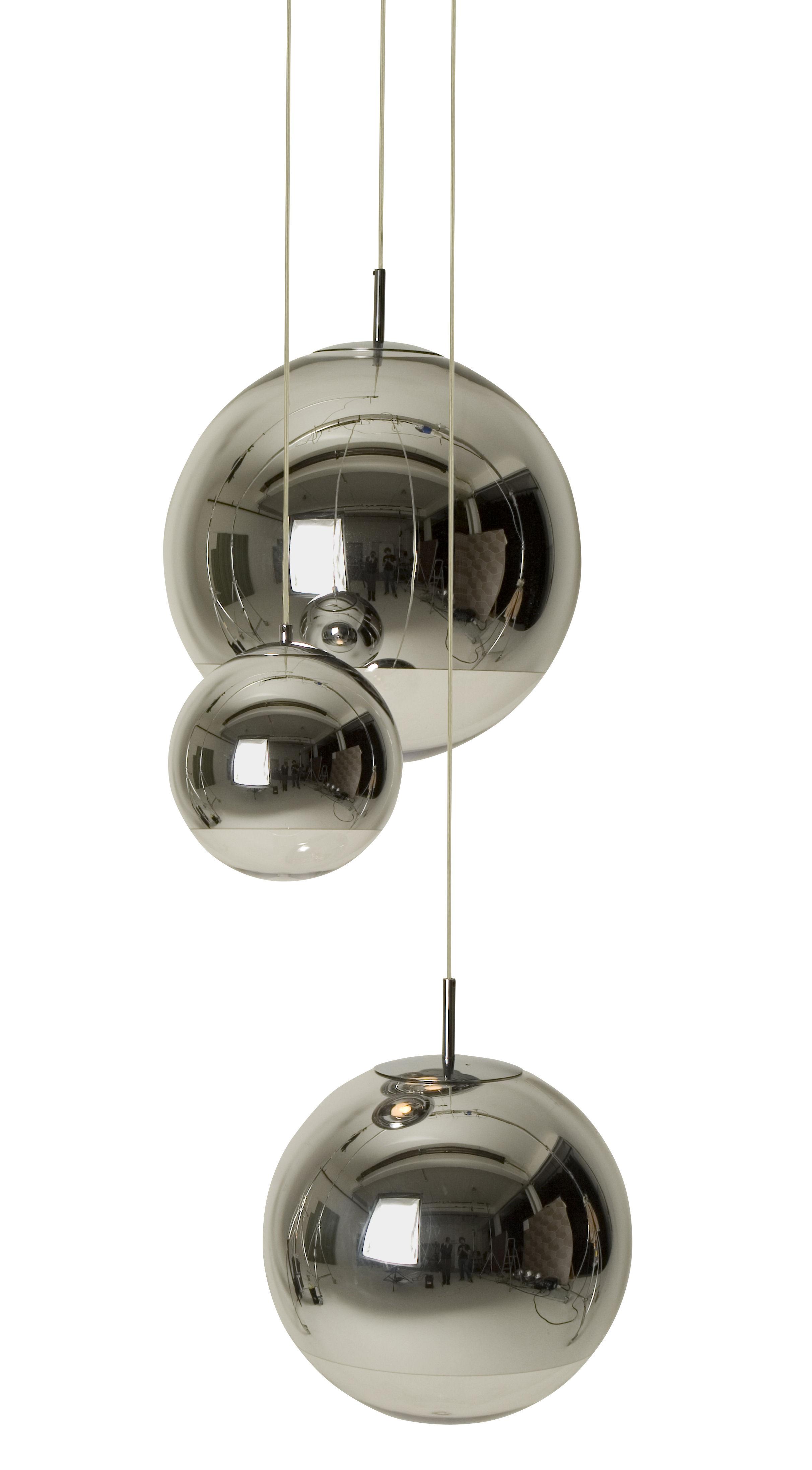 Leuchten - Pendelleuchten - Mirror Ball Medium Pendelleuchte - Tom Dixon - Pendelleuchte Ø 40 cm - Methacrylate