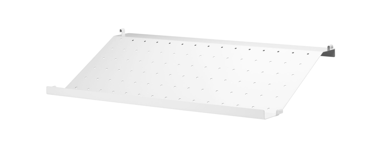Möbel - Regale und Bücherregale - String System Regal / Lochblech / Zeitschriften- und Schuhständer - L 58 cm x T 30 cm - String Furniture - L 58 cm / weiß - lackiertes Metall