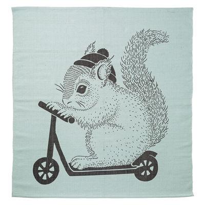Decoration - Children's Home Accessories - Rug - Squirrel - Cotton - 120 x 120 cm by Bloomingville - Squirrel / Mint - Cotton