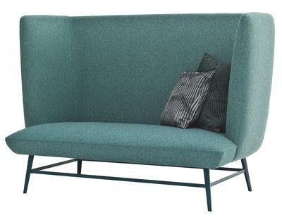 Möbel - Sofas - Gimme Shelter Sofa / 2-Sitzer - L 160 cm x H 113 cm - Diesel with Moroso - Malachit-grün / Fußgestell grün - Kvadrat-Gewebe, Schaumstoff, Stahl