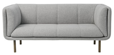 Möbel - Sofas - Stay Sofa / 2,5-Sitzer - L 192 cm - Bloomingville - Hellgrau / Fußgestell Räuchereiche - getönte Eiche, Wolle