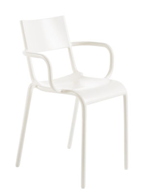 Furniture - Chairs - Generic A Stackable armchair - Polypropylen by Kartell - White - Polypropylene