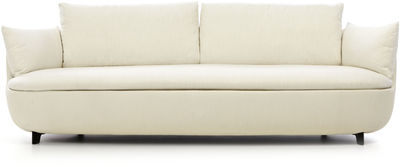 Furniture - Sofas - Bart Straight sofa by Moooi - Off white / Black legs - Fabric, Foam, Wood