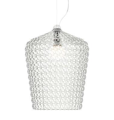 Suspension Kabuki Ø 50 x H 63 cm Plastique ajouré Kartell cristal en matière plastique