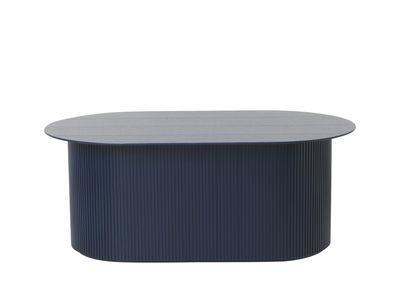 Table basse Podia / Coffre - 95 x 55 cm - Ferm Living bleu foncé en bois