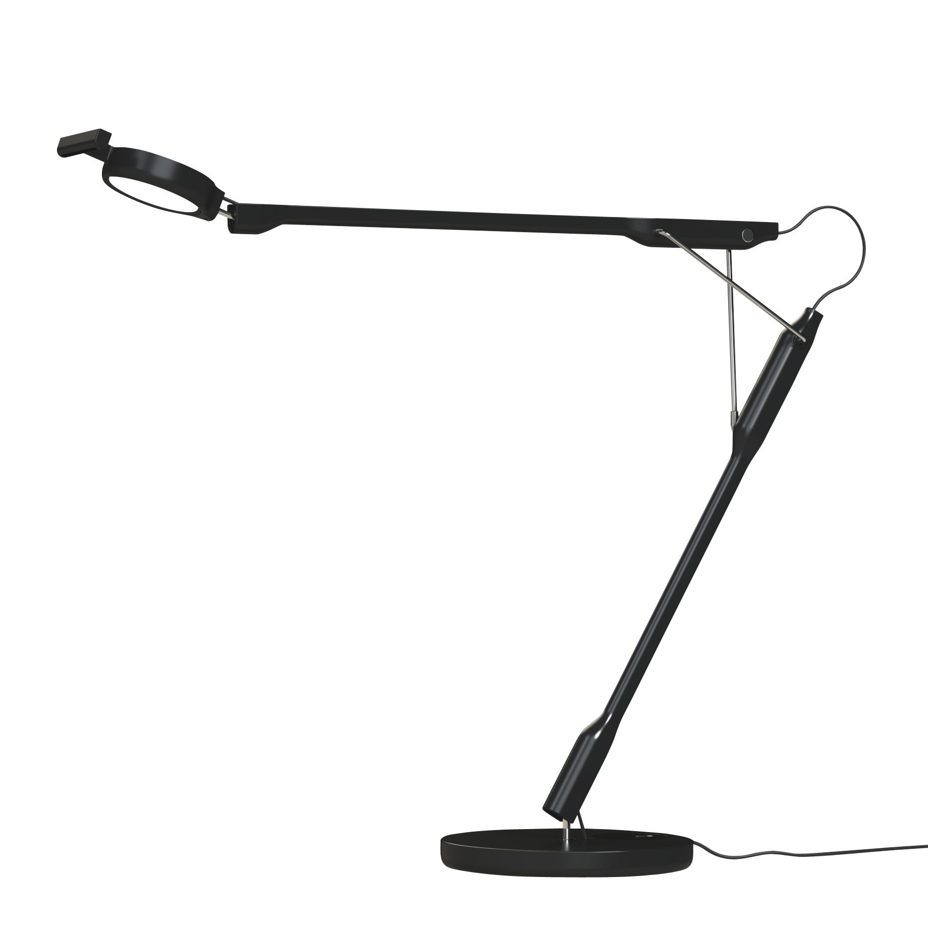 Lighting - Table Lamps - Tivedo LED Table lamp - / Orientable by Luceplan - Black - Polycarbonate, Stainless steel, Thermoplastic