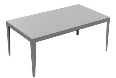 Table rectangulaire Zef / 180 x 90 cm - Matière Grise gris en métal