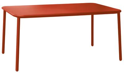 Outdoor - Tische - Yard Tisch / Aluminium - 160 x 97 cm - Emu - Rot - klarlackbeschichtetes Aluminium