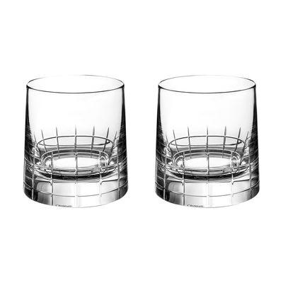 Arts de la table - Verres  - Verre à whisky Graphik / Coffret 2 pièces - Cristal soufflé bouche - Christofle - Transparent - Cristal soufflé bouche