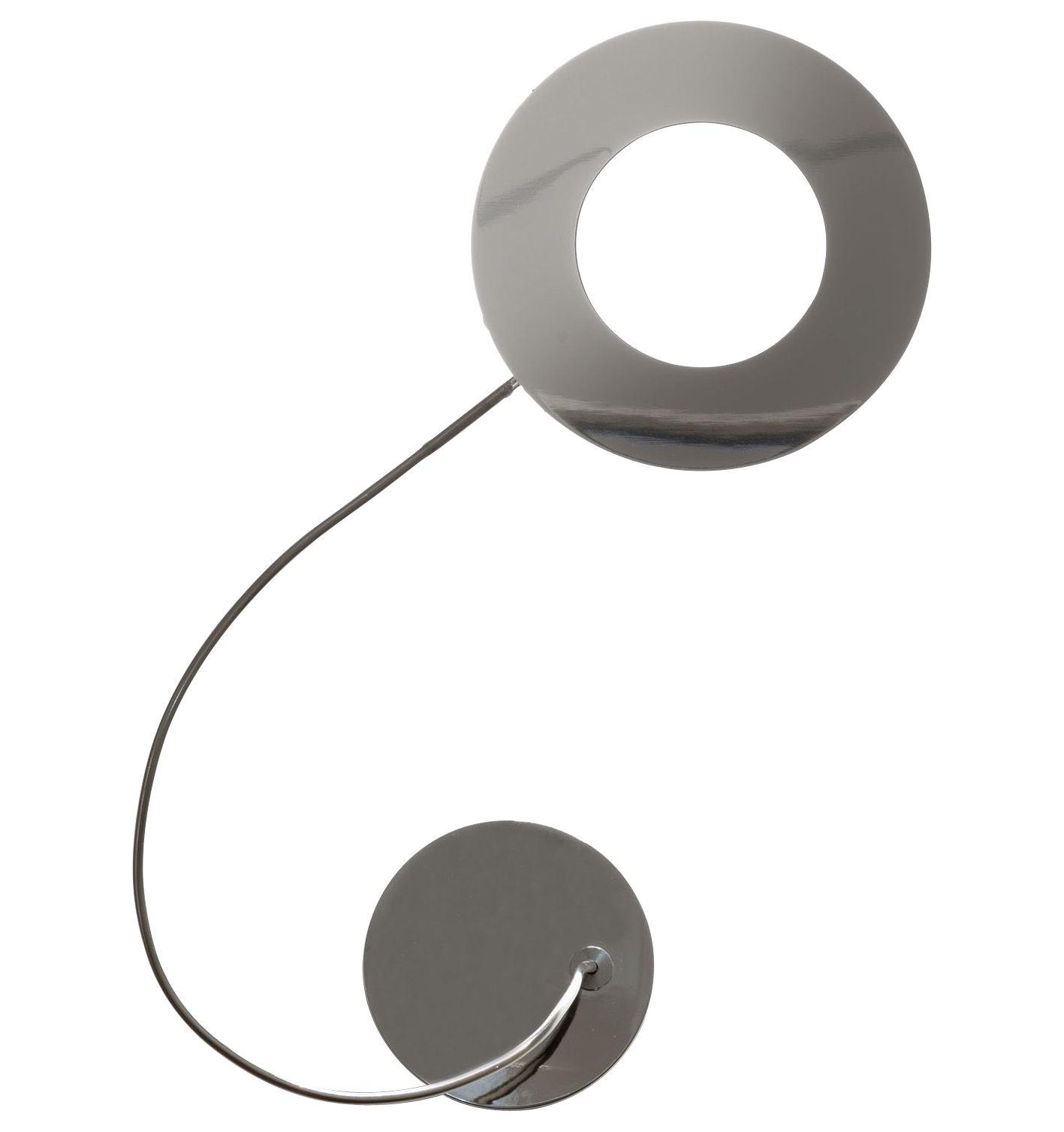 Luminaire - Appliques - Applique Giulietta LED / ø 13 cm - Catellani & Smith - Argent - ø 13 cm - Cuivre nickelé, Métal poli
