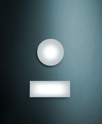 Illuminazione - Lampade da parete - Applique Sole - /Plafoniera- 144 LED - Rettangolare di Fontana Arte - Bianco - Corian, Vetro