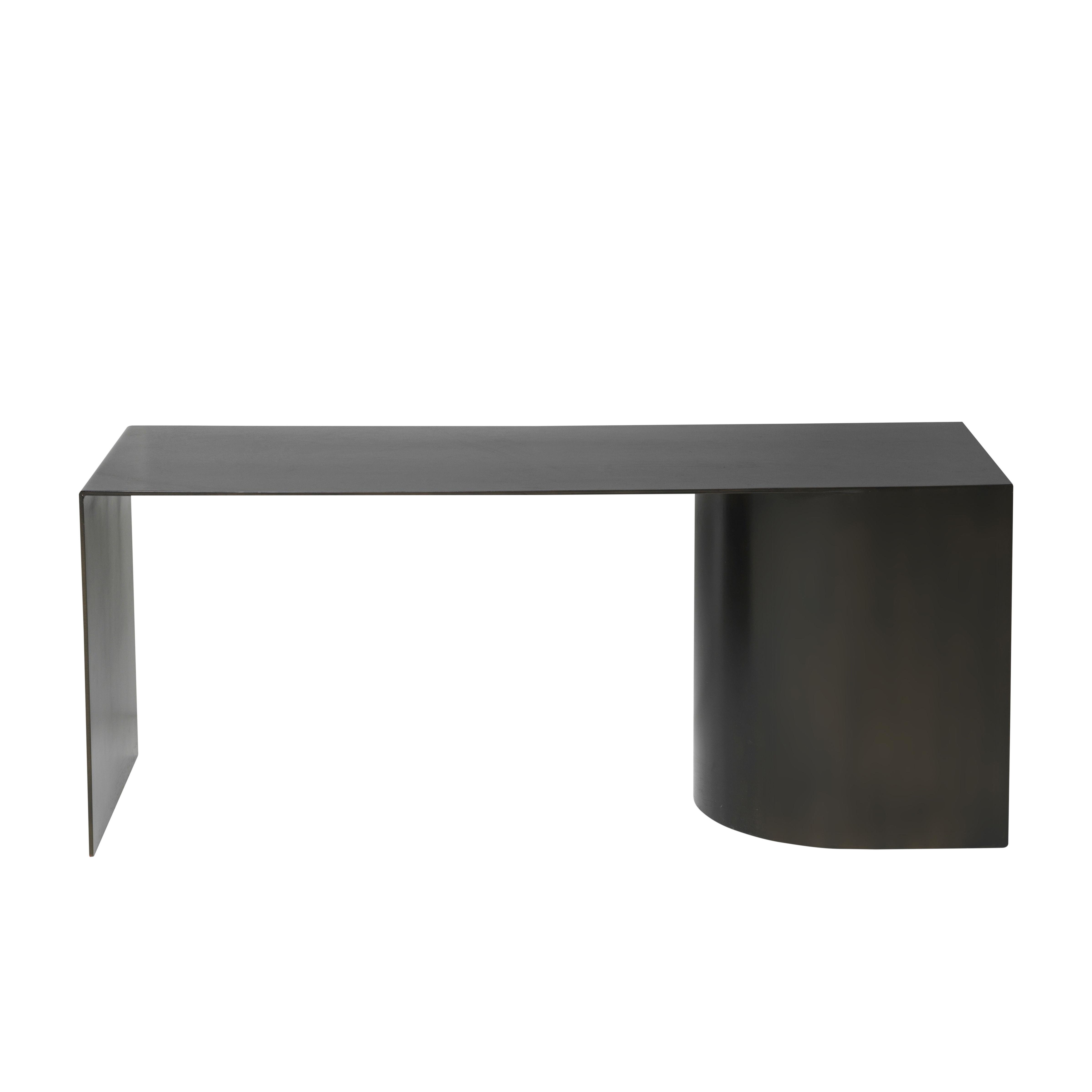 Mobilier - Banc Place / Banc - L 110 cm - Acier - Ferm Living - Noir - Acier noirci