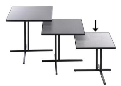 Möbel - Couchtische - K Beistelltisch / 30 x 30 x H 30 cm - MDF Italia - H 30 cm / mattes Anthrazit -  Grès cérame recyclé, bemalter Stahl