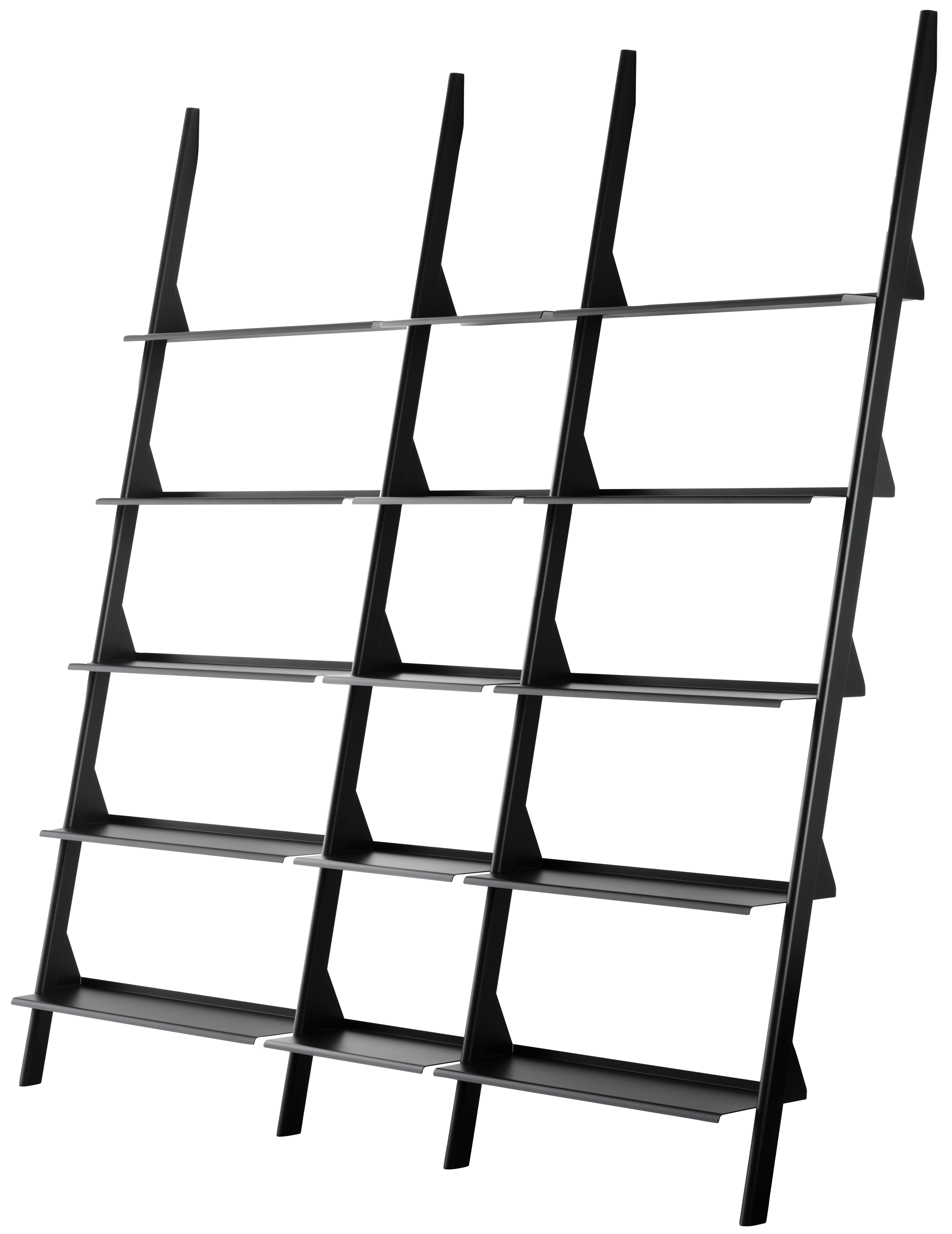 Möbel - Regale und Bücherregale - Tyke - The Wild Bunch Bücherregal / L 195 x H 211 cm - Magis - Schwarz - gefirnister Stahl